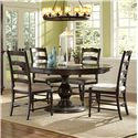 Magnussen Home  Loren 5 Piece Round Table and Chairs Set - D2470-22+4x62