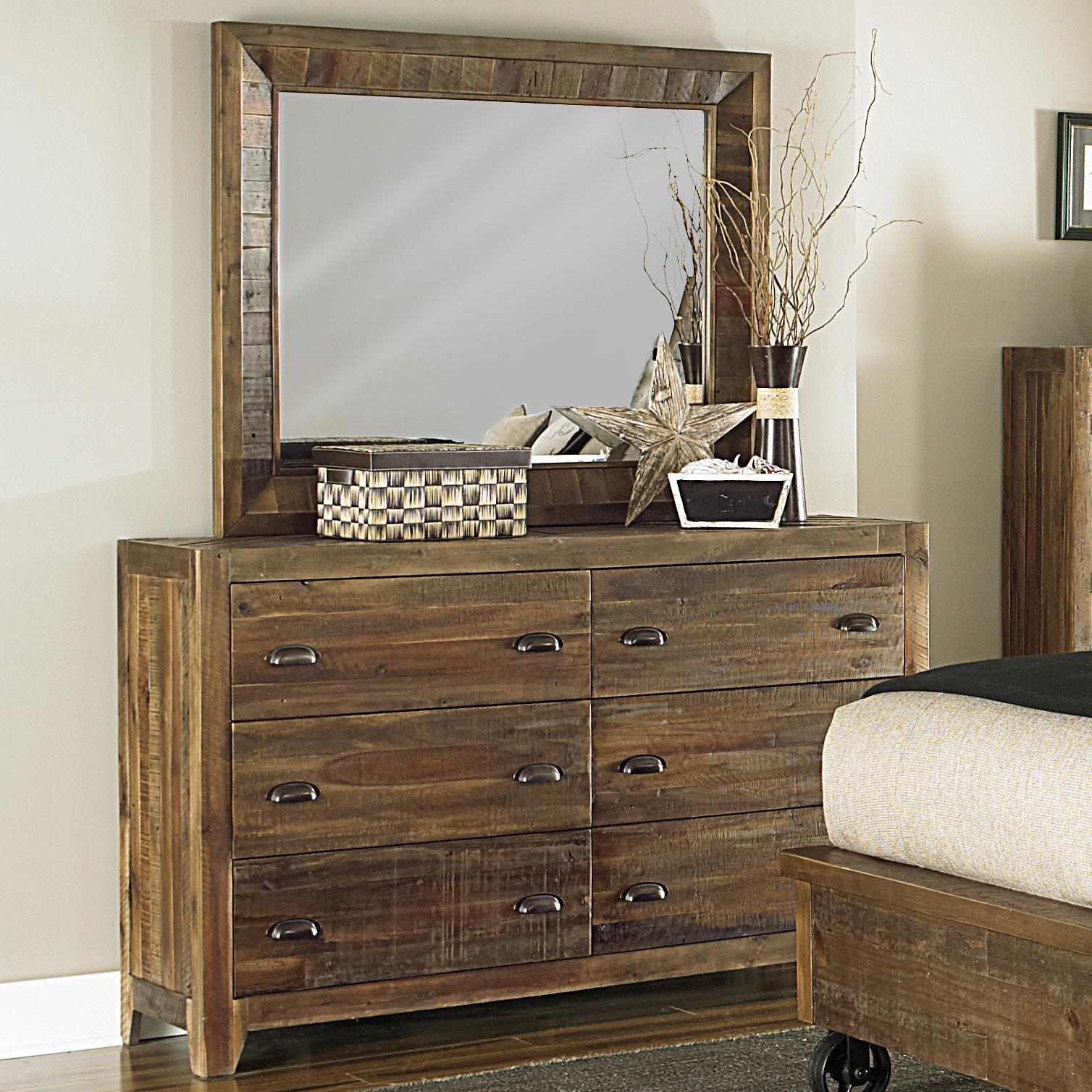 Magnussen Home  River Ridge Dresser and Mirror Combo - Item Number: B2375+40+20