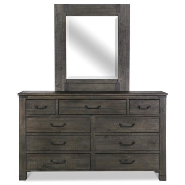 Abington Dresser and Mirror Set by Magnussen Home at Dream Home Interiors