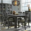 Magnussen Home Abington 7 Pc Dining Set - Item Number: D3804-20+6XD3804-62