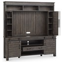 Magnussen Home Abington  Solid Wood Transitional Entertainment Wall with Wire Management