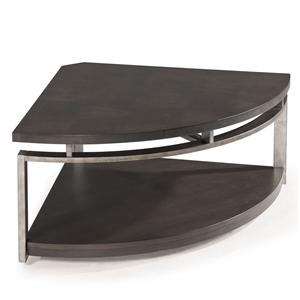 Magnussen Home Alton Pie-shaped Cocktail Table