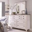 Magnussen Home Alys Beach Dresser and Mirror Set - Item Number: B4864-20+40W