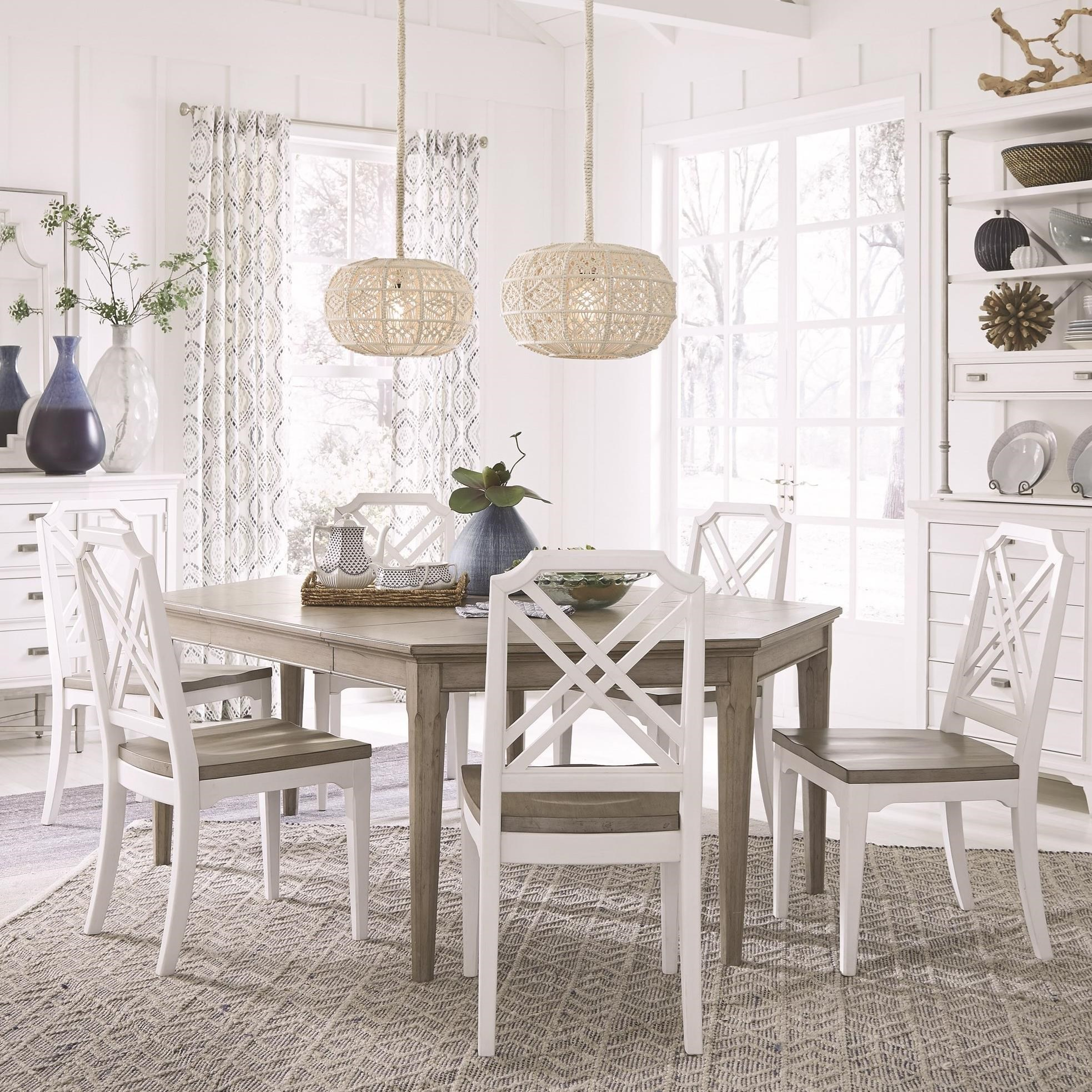 Dining Table Set with 6 Chairs