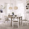 Magnussen Home Alys Beach Dining Table Set with 6 Chairs - Item Number: D4864-35+6x60