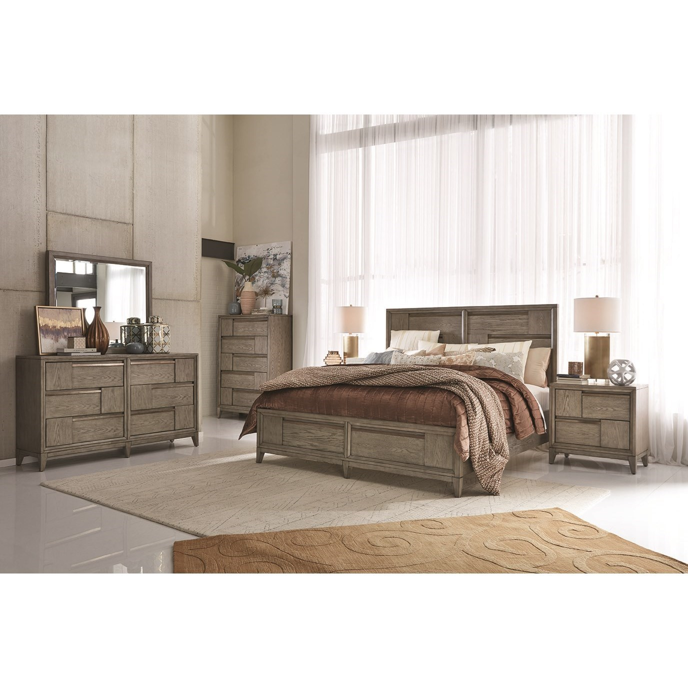 Atelier Queen Storage Bedroom Group by Magnussen Home at Value City Furniture