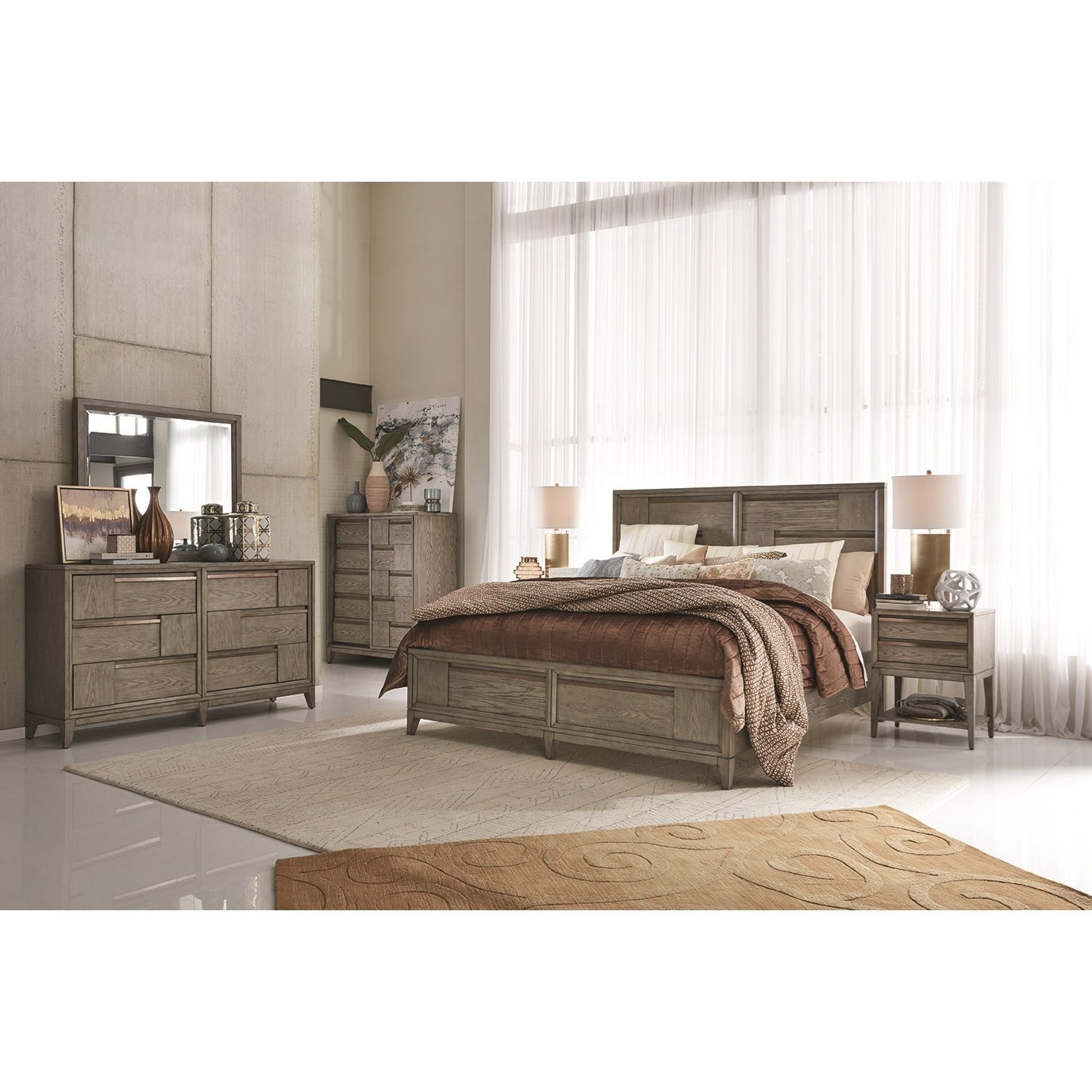 Atelier Cal King Bedroom Group by Magnussen Home at Value City Furniture