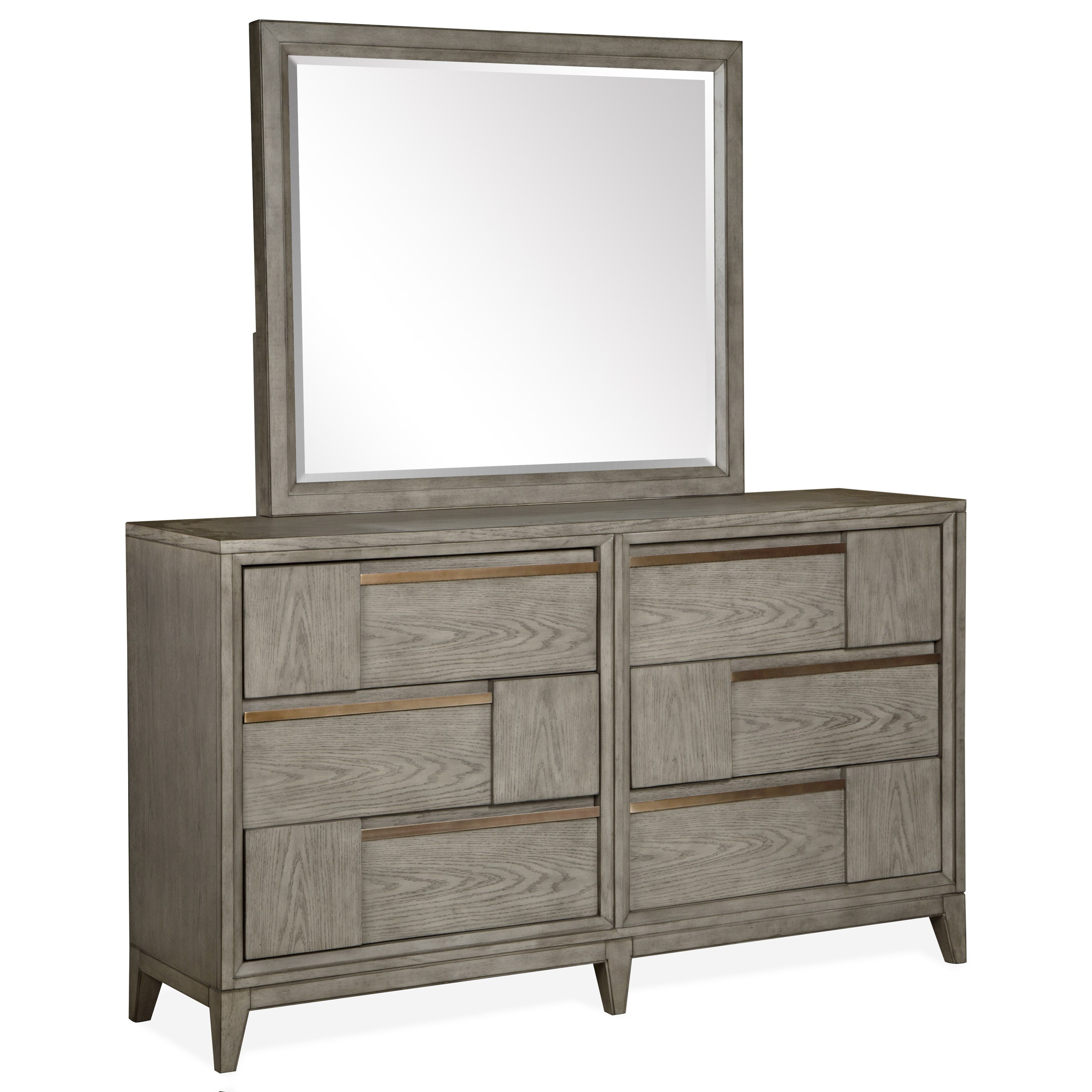 Atelier Dresser and Mirror Combination by Magnussen Home at Value City Furniture