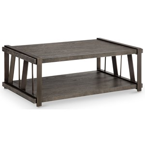 Magnussen Home Aviston Rectangular Cocktail Table with Casters