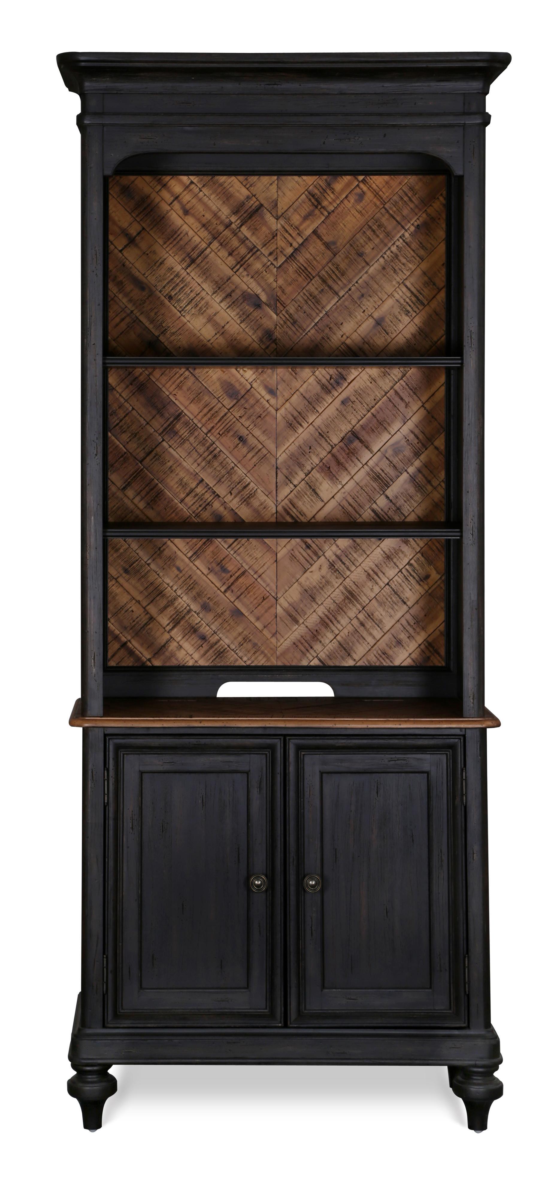 Magnussen Home Barnhardt Bookcase - Item Number: H2588-20B+H2588-20T