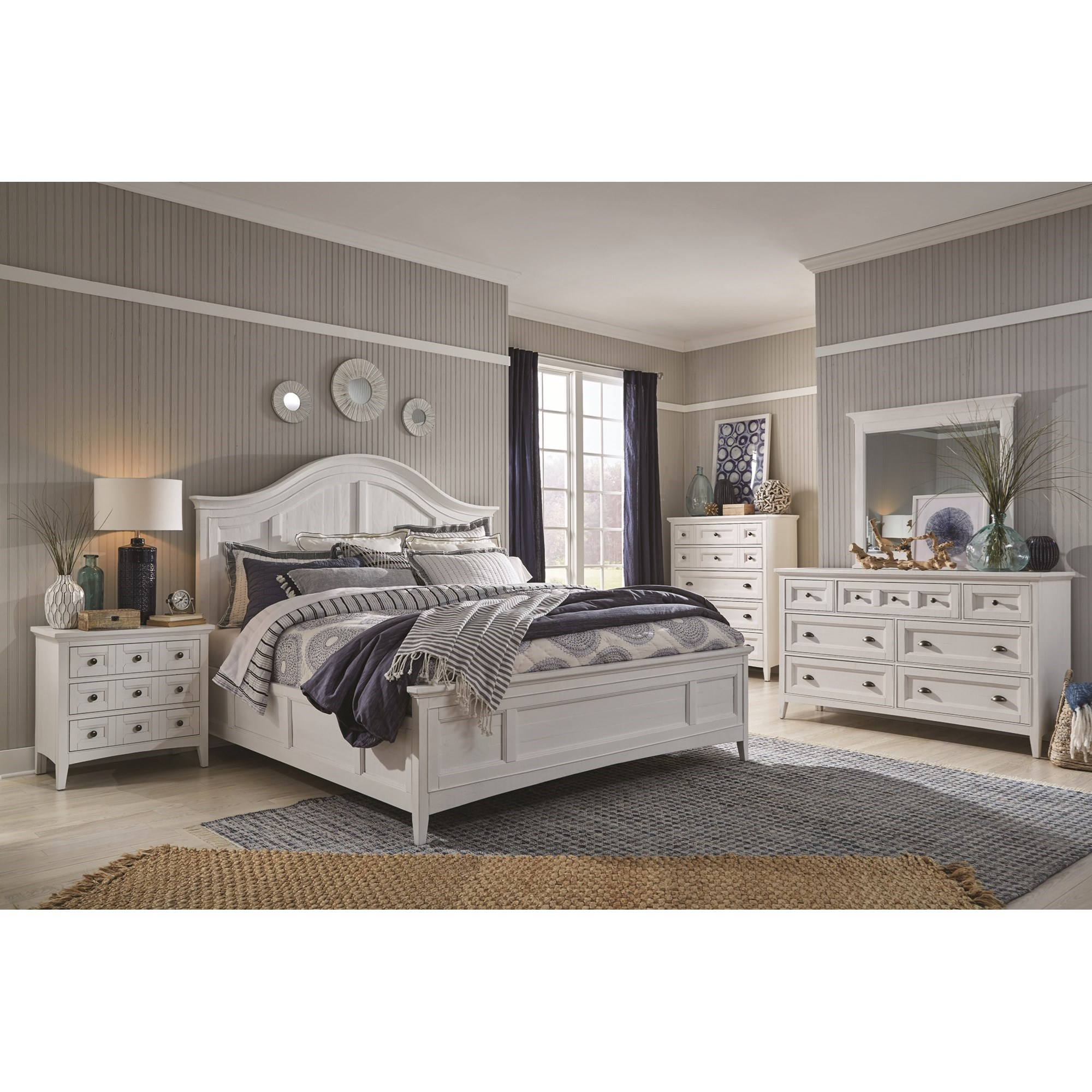 Heron Cove Queen Bedroom Group by Magnussen Home at Stoney Creek Furniture