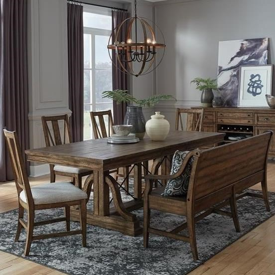 Bay Creek 6-Piece Dining Set w/ Bench by Magnussen Home at Value City Furniture