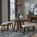 Magnussen Home Bay Creek 3-Piece Dining Set with Benches - Item Number: D4398-27+2X67