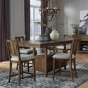 Magnussen Home Bay Creek 5-Piece Counter Height Dining Set - Item Number: D4398-42+4X82