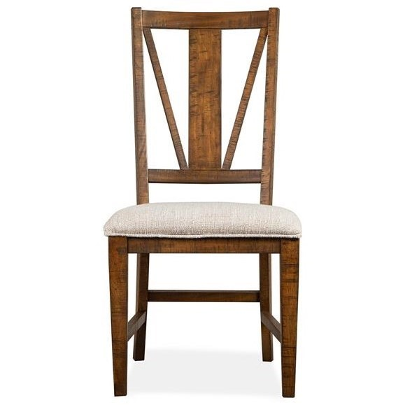 Bay Creek Dining Side Chair w/ Upholstered Seat by Magnussen Home at Value City Furniture