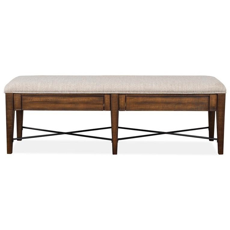 Bay Creek Bench w/Upholstered Seat by Magnussen Home at Value City Furniture