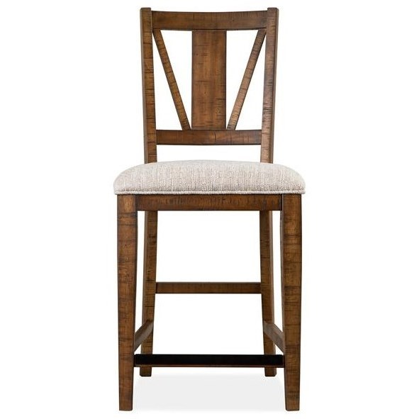 Bay Creek Counter Chair w/ Upholstered Seat by Magnussen Home at Value City Furniture