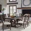 Magnussen Home Westley Falls 7-Piece Dining Set - Item Number: D4399-25+6X62
