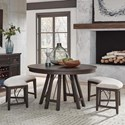 Magnussen Home Westley Falls 3-Piece Dining Set with Benches - Item Number: D4399-27+2X67