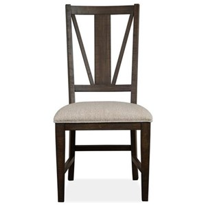 Dining Side Chair w/ Upholstered Seat