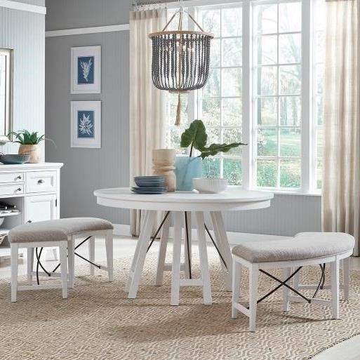 Heron Cove 3-Piece Dining Set with Benches by Magnussen Home at Value City Furniture