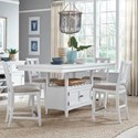 Magnussen Home Heron Cove 5-Piece Counter Height Dining Set - Item Number: D4400-42+4X82