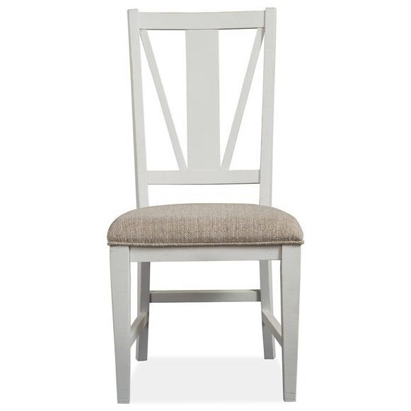 Heron Cove Dining Side Chair w/ Upholstered Seat by Magnussen Home at Stoney Creek Furniture