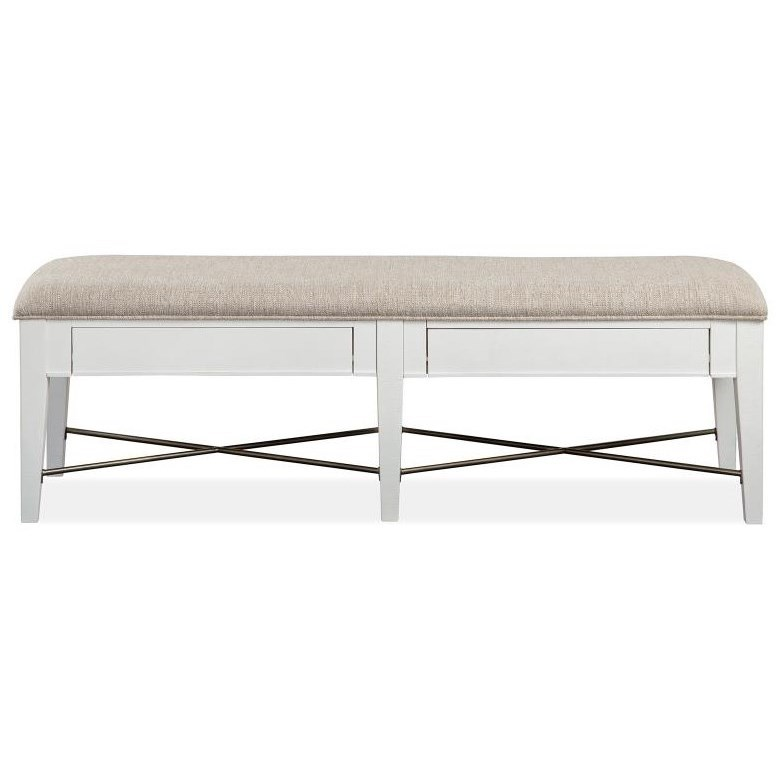 Heron Cove Bench w/Upholstered Seat by Magnussen Home at Stoney Creek Furniture