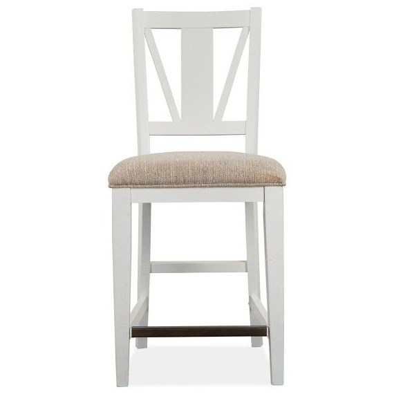 Heron Cove Counter Chair w/ Upholstered Seat by Magnussen Home at Stoney Creek Furniture