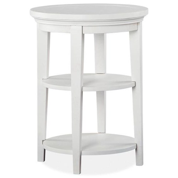 Heron Cove Round Accent Table by Magnussen Home at Value City Furniture