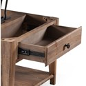 Magnussen Home Baytowne Casual Lift-Top Cocktail Table with Casters - Pull-Through Drawers