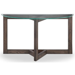 Magnussen Home Beck Demilune Sofa Table