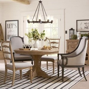 Magnussen Home Graham Hills Round Table, 2 Host Chairs 2 Side Chairs