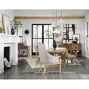 Magnussen Home Graham Hills Dining Table And 6 Chairs - Item Number: D4281-20+2x76+4x62