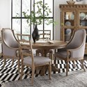 Magnussen Home Graham Hills Round Table, 2 Host Chairs 2 Side Chairs - Item Number: D4281-22+2x76+2x62