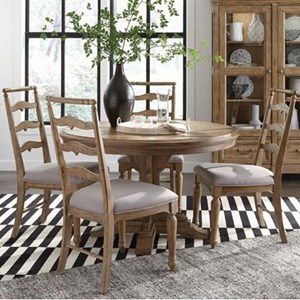 Magnussen Home Graham Hills Round Dining Table With 4 Side Chairs