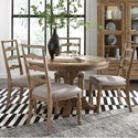 Magnussen Home Graham Hills Round Dining Table With 4 Side Chairs - Item Number: D4281-22+4x62