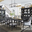 Magnussen Home Bedford Corners Table, 6 Side Chairs, 2 Host Chairs - Item Number: D4282-20+2x76+6x62