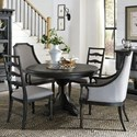 Magnussen Home Bedford Corners Round Table, 2 Host Chairs 2 Side Chairs - Item Number: D4282-22+2x76+2x62