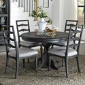 Magnussen Home Bedford Corners Round Dining Table With 4 Side Chairs - Item Number: D4282-22+4x62