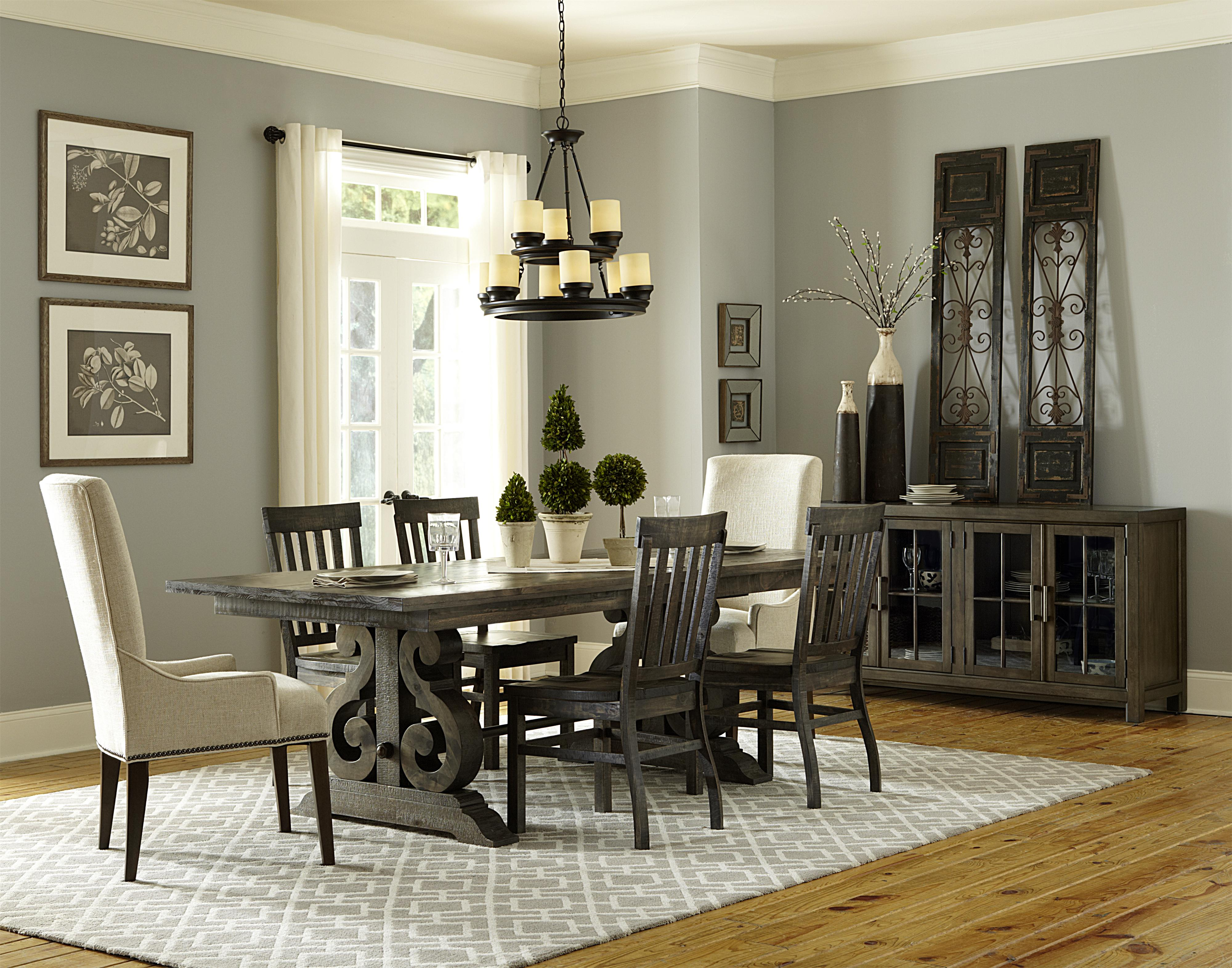 Magnussen Home Bellamy Transitional Double Pedestal Dining