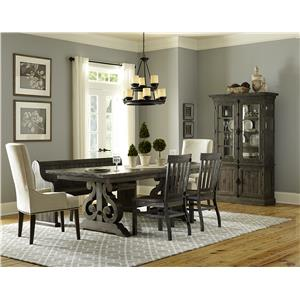 Magnussen Home Bellamy Dining Table 2 Wood Chairs 2 Upholstered C  sc 1 st  Great American Home Store & Table and Chair Sets | Memphis TN Southaven MS Table and Chair ...