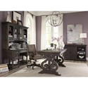 Magnussen Home Bellamy Traditional Desk and Hutch with Glass Doors