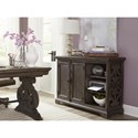 Magnussen Home Bellamy Traditional Printer Stand with Scrolled Fretwork