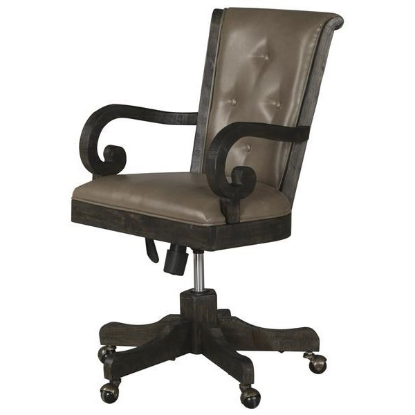 Bellamy Upholstered Desk Chair by Magnussen Home at Stoney Creek Furniture