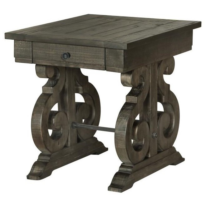 Bellamy Rectangular End Table by Magnussen Home at Stoney Creek Furniture