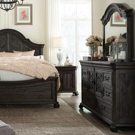 Bellamy Dresser and Mirror Set by Magnussen Home at Stoney Creek Furniture