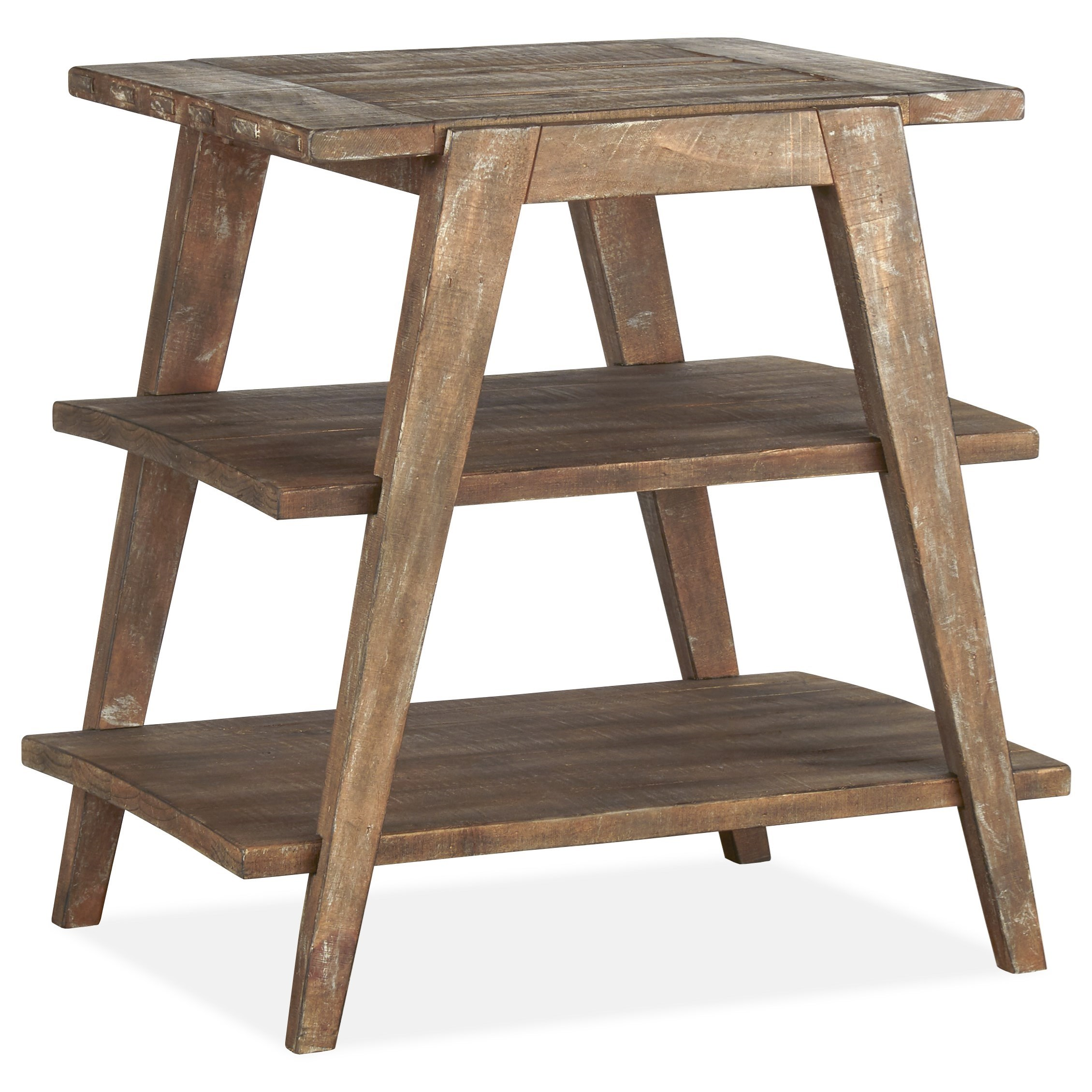 Bluff Heights Shelf End Table by Magnussen Home at Value City Furniture
