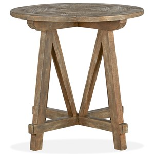 Magnussen Home Bluff Heights Round Accent Table