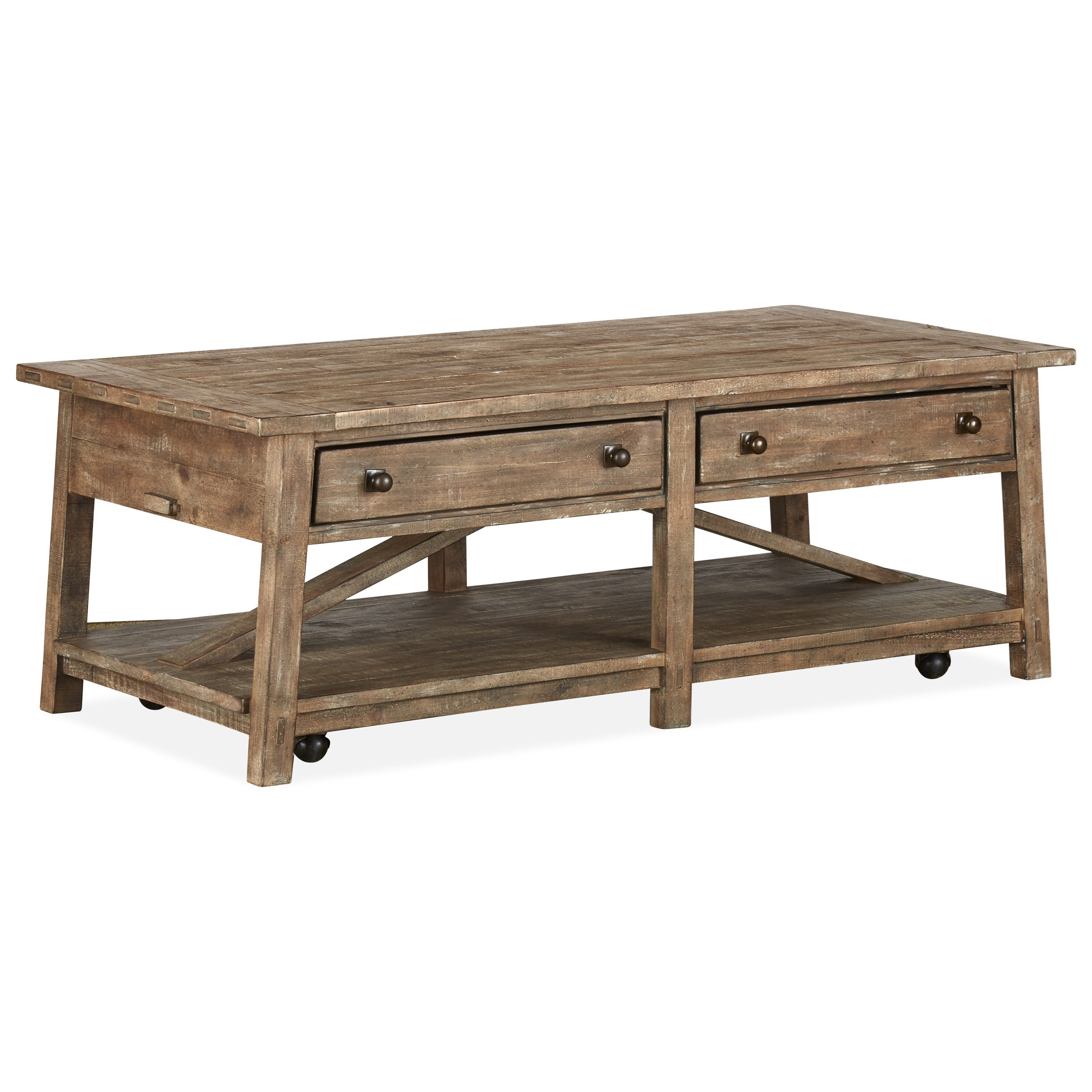 Bluff Heights Rectangular Cocktail Table by Magnussen Home at Value City Furniture